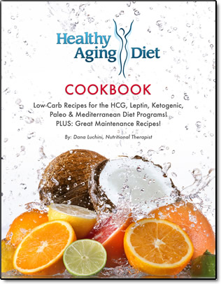 Healthy aging diet cookbook HCG, low carb, paleo, mediterranean program